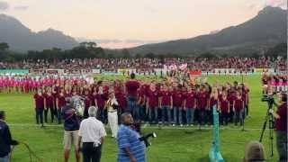Die Universiteit Stellenbosch Koor sing Nkosi Sikelel