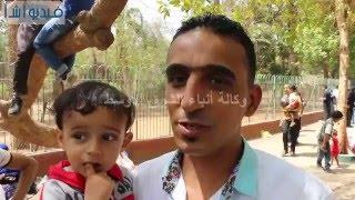 بالفيديو : مواطنون في شم النسيم بحديقة الحيوان