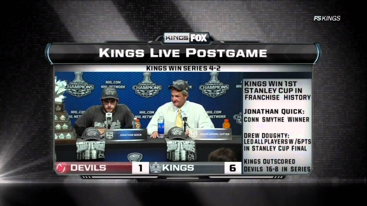 211af4c31ce Kings Live Post Game prt 4 FSW. New Jersey Devils vs LA Kings Stanley Cup  Game 6 6/11/12 NHL