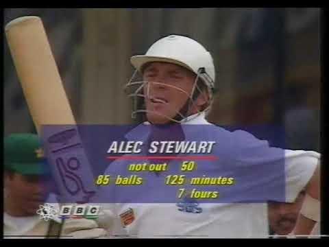 Alec Stewart 190 vs Pakistan 1992 part 1