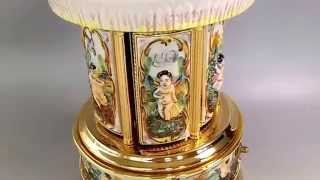 Capodimonte Porcelain Cigarette / Lipstick Holders Music Box