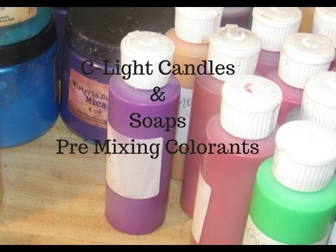 Homemade Soap, Making Pre Mixed Colorants