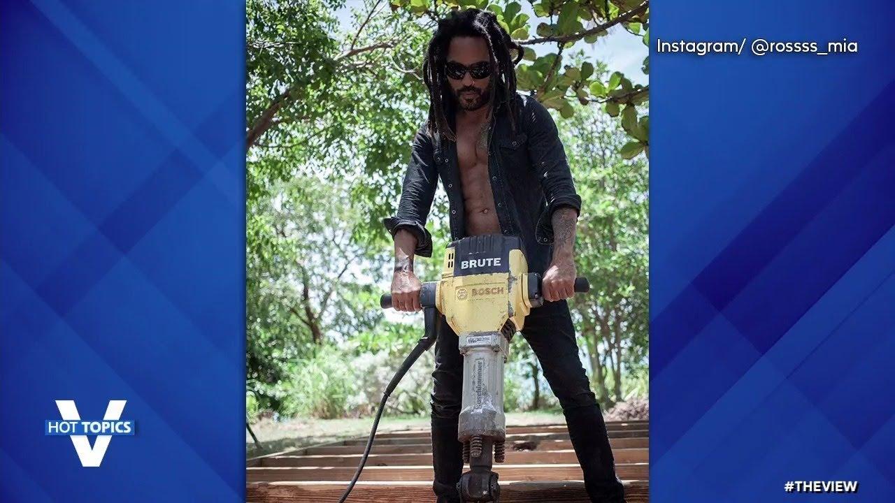 Lenny Kravitz DIY Thirst Trap Post   The View