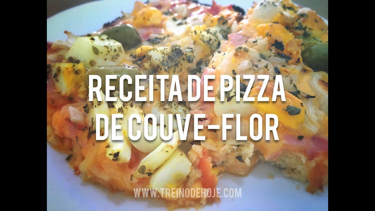 Pizza low carb de couve flor