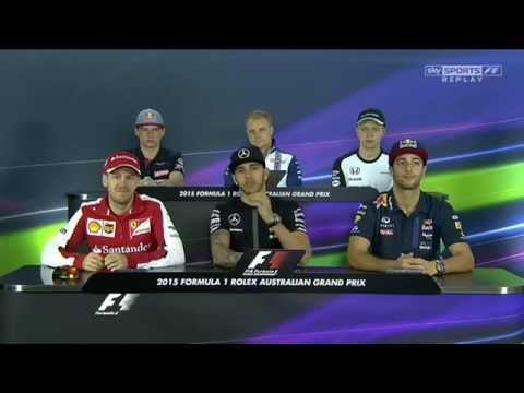 Formula 1 2015 Australian GP Drivers Press Conference x264 SM