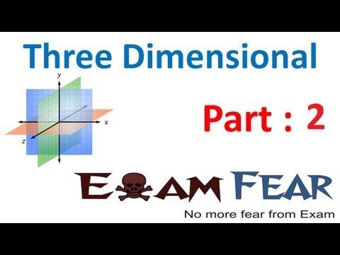 Maths Three dimensional 3d part 2 (Distance between two 2 points) CBSE class 11 Mathematics XI
