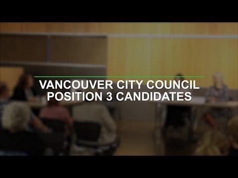 Vancouver City Council Position 3 Candidates
