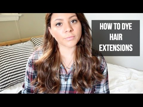 HOW TO - Dye/Color Hair Extensions - 동영상