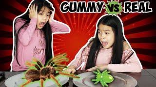 GUMMY FOOD VS REAL [PART #5] | Tran Twins