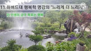 """11.하버드대 행복학 명강의 """"느리게 더 느리…"""