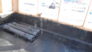 115-12 - Обработка бетонного пола праймером кровля(Поэтапный видеоотчет хода строительства объекта №115. Проект