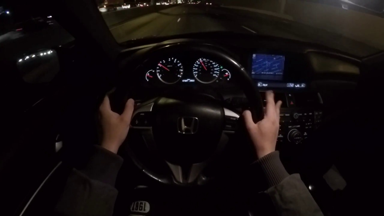2008 Honda Accord V6 Coupe (Manual) - POV Night Drive ...