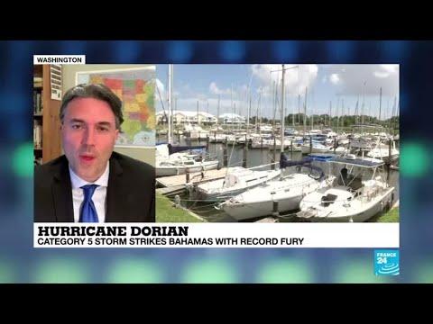 Category 5 Hurricane Dorian slams into Bahamas as US states order evacuations