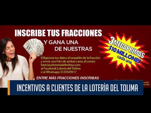 Lotería del Tolima premiará la fidelidad de sus compradores