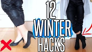 12 WINTER Clothing Hacks EVERY Girl MUST Know !!