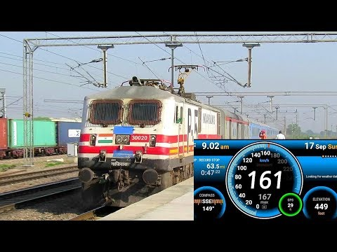 160 kmph Thrill GATIMAAN Exp Ride : Onboard India`s FASTEST Train FULL Journey Compilation