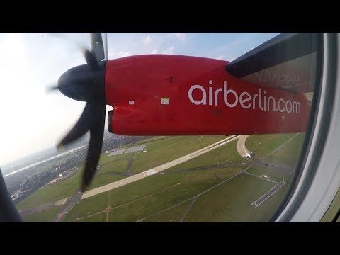 ✈ airberlin Bombardier Dash 8-Q400 Takeoff From Düsseldorf Airport (DUS) ✈