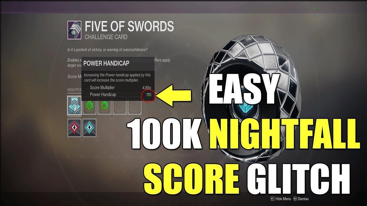 110 Power Handicap Glitch! Easy Nightfall 100k Score (Destiny 2: Black  Armory)