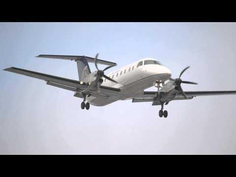 (Rare) United Airlines Express EMB-120ER Brasilia [N295SW] Landing At LAX