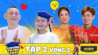 Gia đình thông thái   Tập 2 vòng 2: Hot kid Bào Ngư khoe trình kiến thức khiến cả nhà tự hào