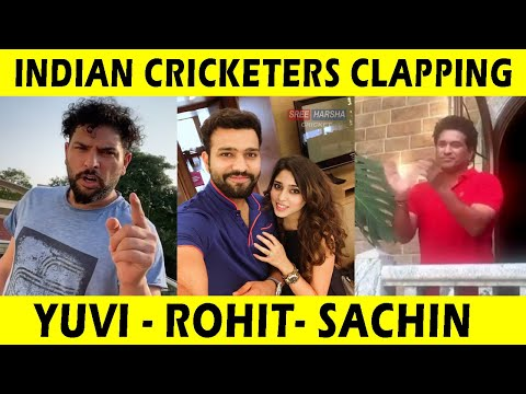 Indian Cricketers Clapping