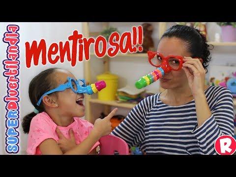 Mentiroso! Me crece la nariz! Andrea y Raquel en SUPERDivertilandia.