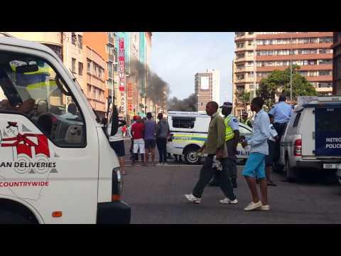 Xenophobic attack Durban CBD 14 April 2015