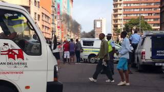 Xenophobic attack Durban CBD 14 April 2015
