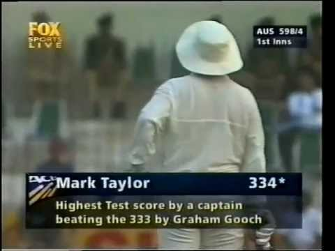 Mark Taylor historic 334* vs Pakistan 2nd test 1998, smashes Shoaib Akhtar to pieces.