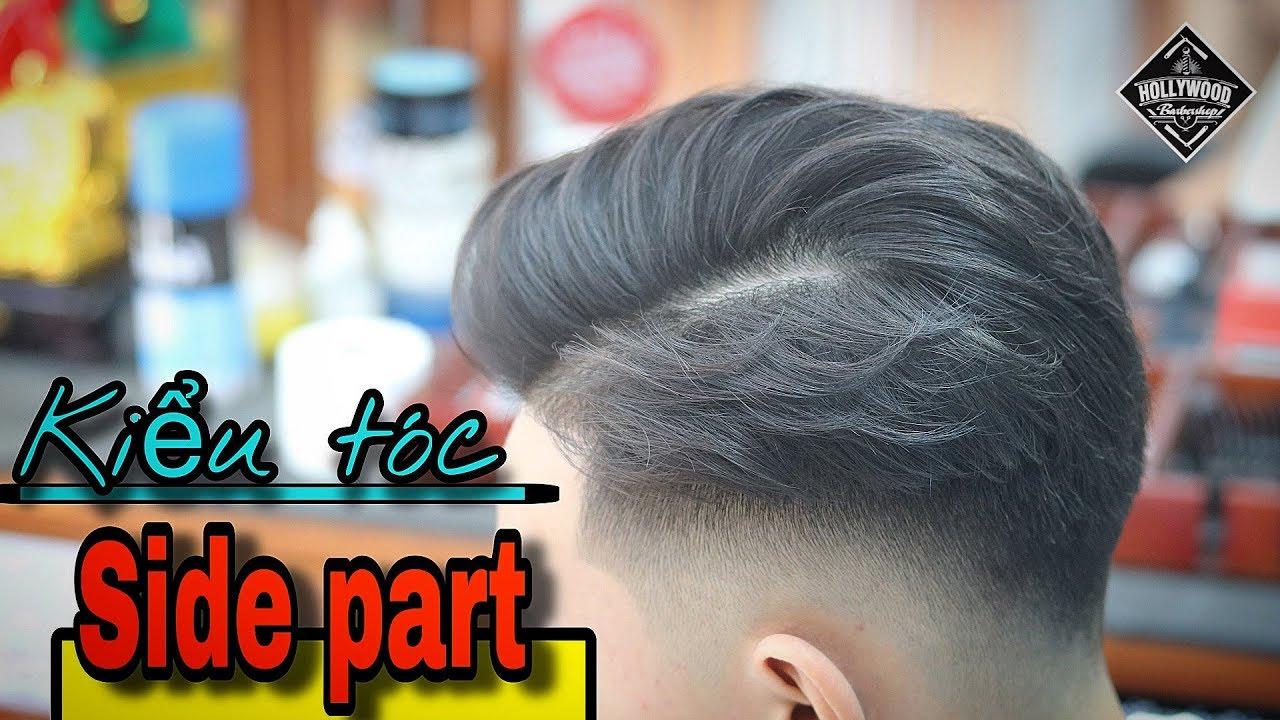 Cắt tạo kiểu Side part Low fade | Hollywood barber shop