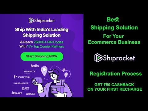 Best Shipping Solution For Ecommerce | Shiprocket | How to Register And Use Shiprocket