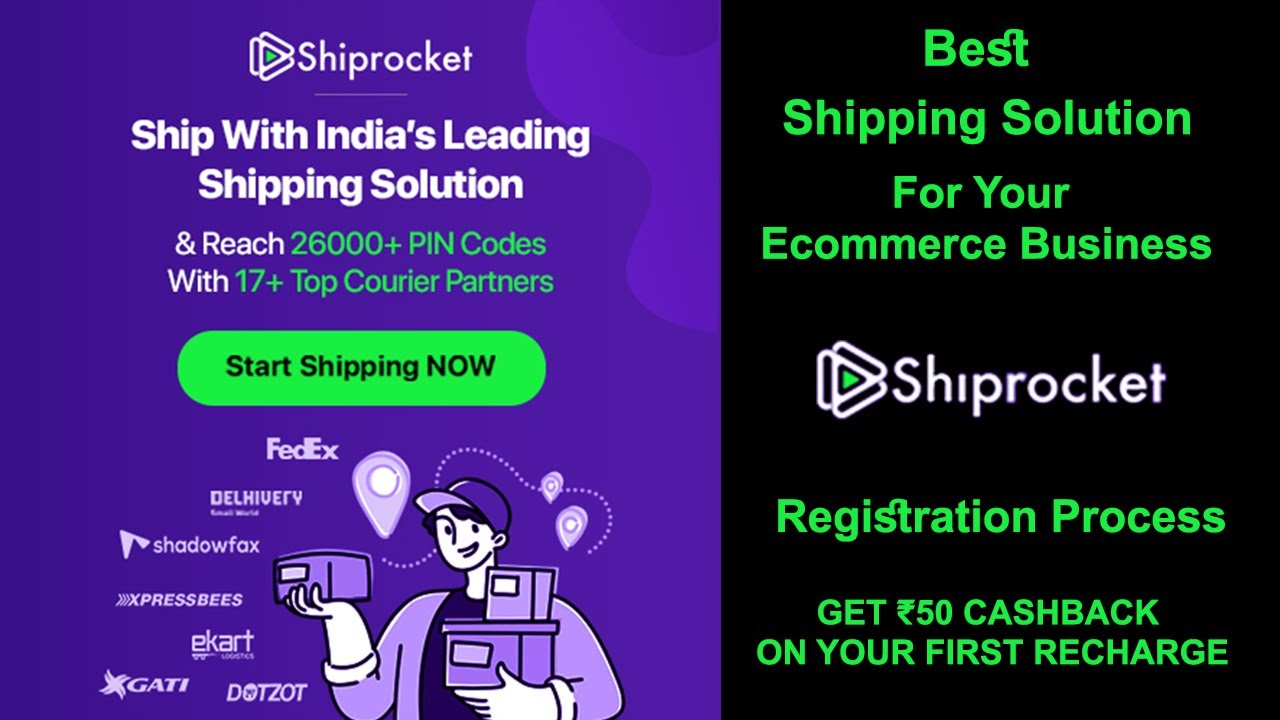 Best Shipping Solution For Ecommerce   Shiprocket   How to Register And Use Shiprocket