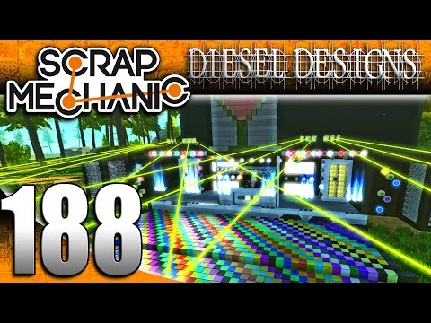 Scrap Mechanic Gameplay :E188: DJ Double D!  DJ Party Trailer & Dance Floor! (HD Creations PC)