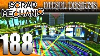 Scrap Mechanic Gameplay :E188: DJ Double D!  DJ Party Trailer & Dance Floor! (HD Creations PC)