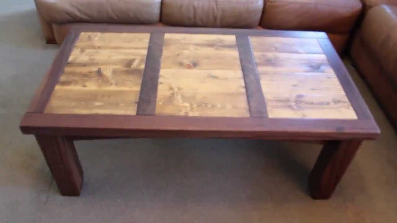 Reclaimed wood coffee table walnut and reclaimed wood furniture reclaimed wood coffee table walnut and reclaimed wood furniture youtube geotapseo Images