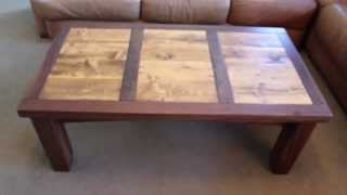 Reclaimed Wood Coffee Table - Walnut And Reclaimed Wood Furniture