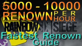 Easy Renown Strategy Fast Renown Guide Rainbow Six Siege Renown