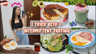 CHALLENGE KETO + INTERMITTENT FASTING FOR 2 WEEKS 🥓🥑🍳   LOSE 3.3KG IN JUST A WEEK?! (PART 1)