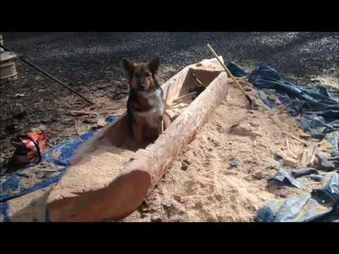 how to DIY dugout canoe