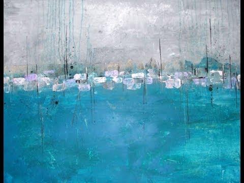 Abstract Acrylic Painting Speed Abstraktes Acrylbild Herz Speed