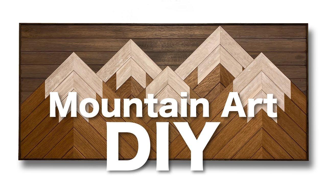 Wooden Mountain Wall Art