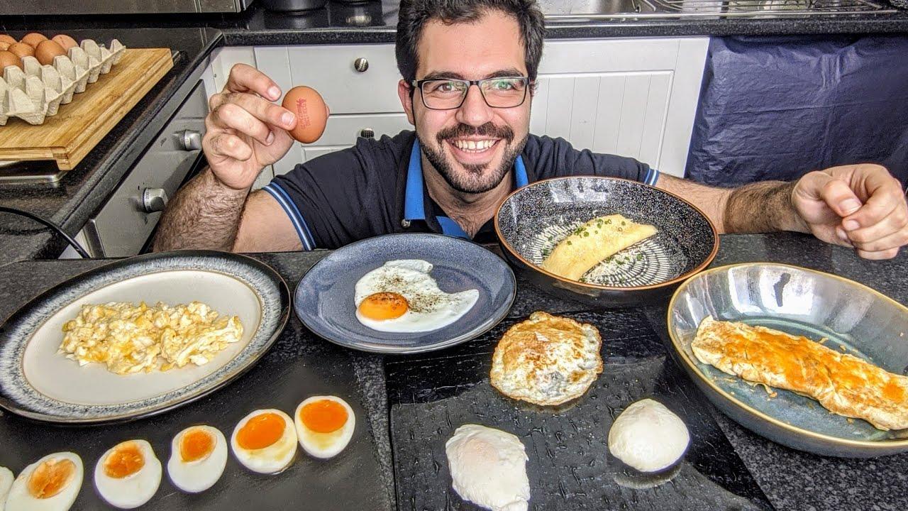 Different Ways To Cook Eggs 10 طرق مختلفة لطبخ البيض شيف شاهين Youtube