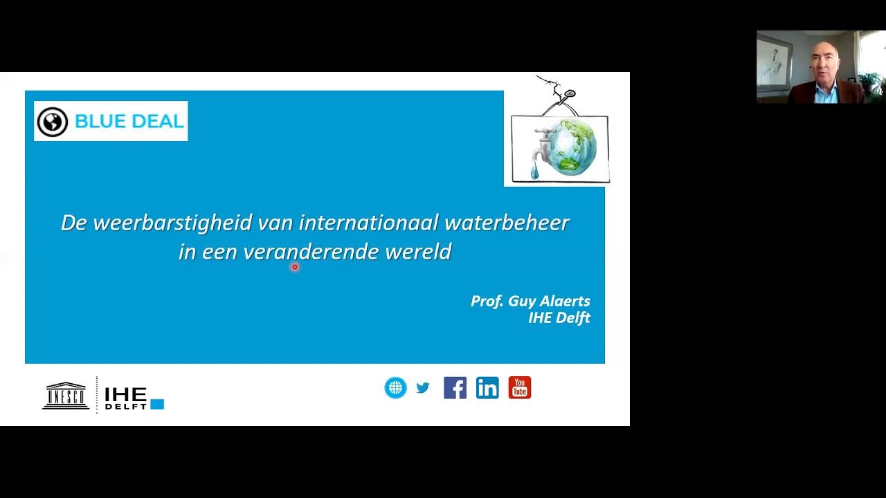 Lezing Guy Alaerts over de weerbarstigheid van internationaal waterbeheer.