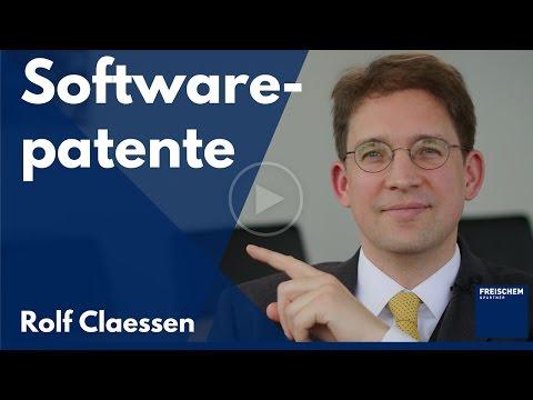 Softwarepatente - Profiwissen Patente #rolfclaessen