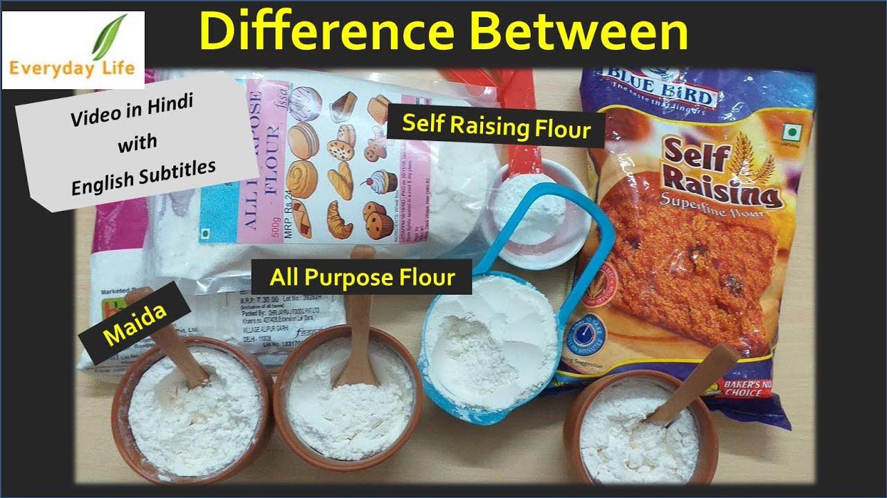 Difference b/w Maida, All Purpose Flour & Self Raising Flour with a  Surprise | मैदा | Everyday Life