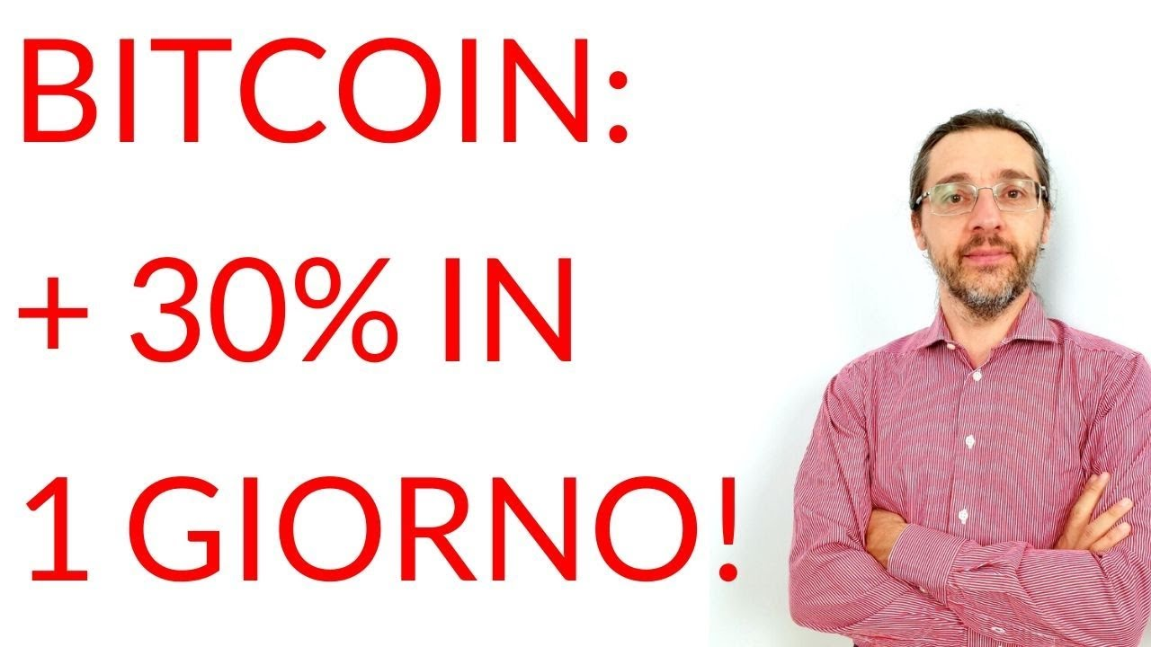 Bitcoin guadagna il 30% in 1 GIORNO, e torna a 10.000 $! Colpa dei future?
