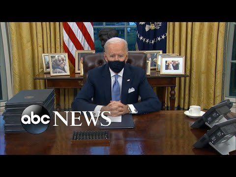 ABC News Live Update: Biden gets to work on fighting COVID-19