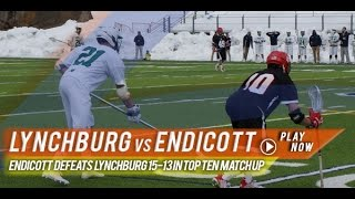 Lynchburg vs Endicott | 2015 College Lacrosse Highlights