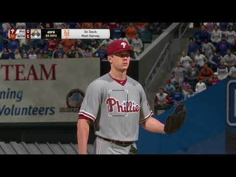 MLB17: The Show. (PS4 Pro) Season Mode (Mets). Game 139. Phillies @ Mets. Hellickson Vs. Harvey