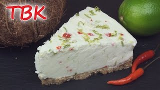 Coconut, Lime & Chili No-bake Cheesecake Recipe - Titli's Busy Kitchen